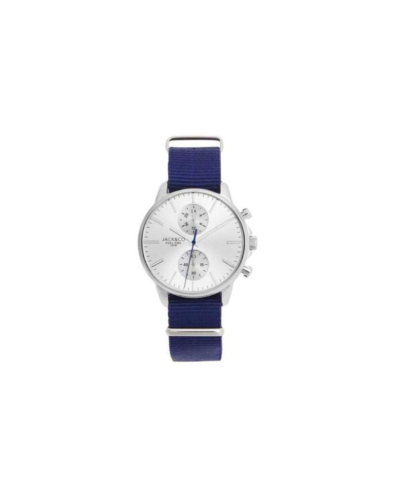 JACK & CO MARCELLO MINIMAL CINTURINO BLU - JACK & CO