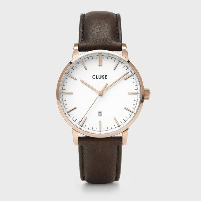 CLUSE ARAVIS 3H 40MM WHITE DIAL BROWN - CLUSE