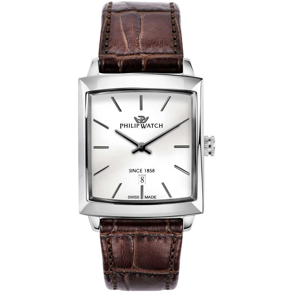 OROLOGIO SOLO TEMPO UOMO PHILIP WATCH NEWPORT - PHILIP WATCH