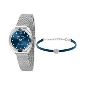 SECTOR 955 BLUE DIAL MESH SILVER BR - SECTOR