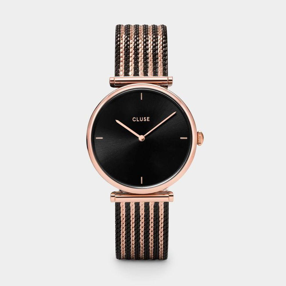 CLUSE TRIOMPHE ROSE GOLD AND BLACK BICOLOUR - CLUSE