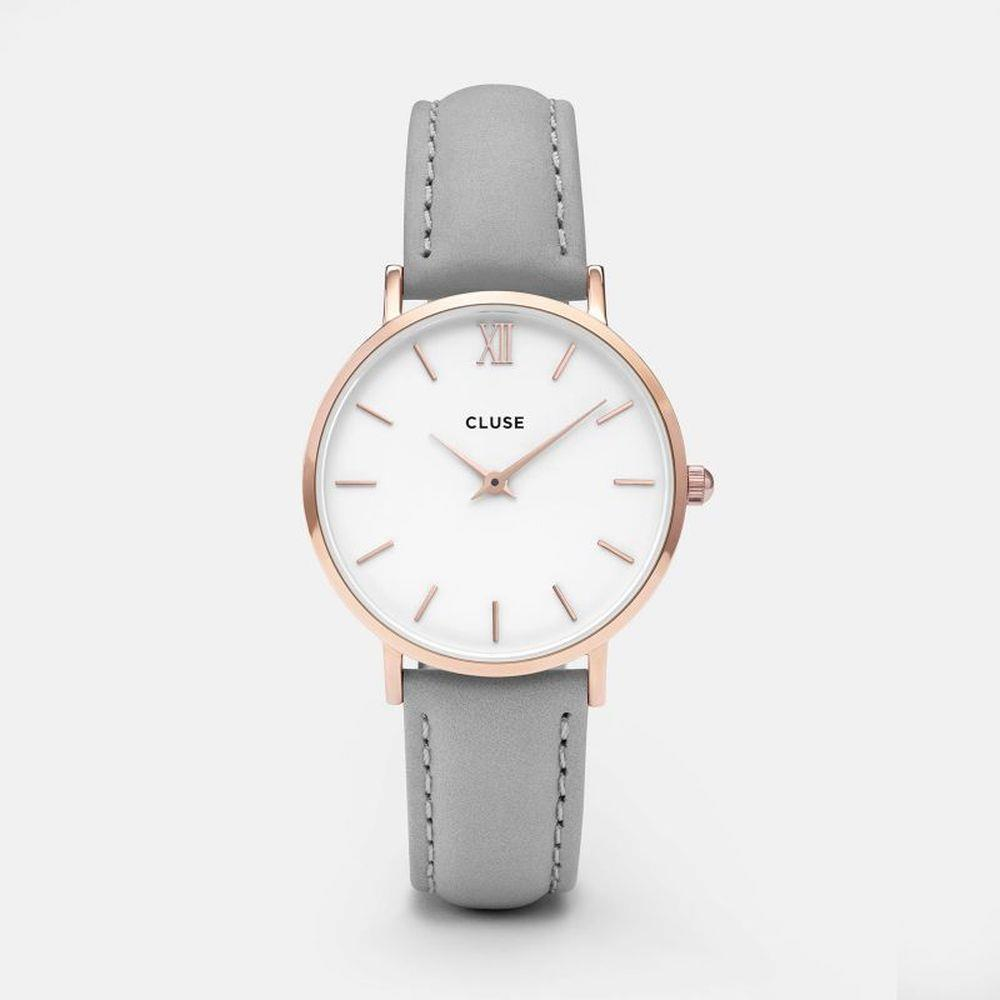 CLUSE MINUIT ROSE GOLD WHITE/GREY - CLUSE