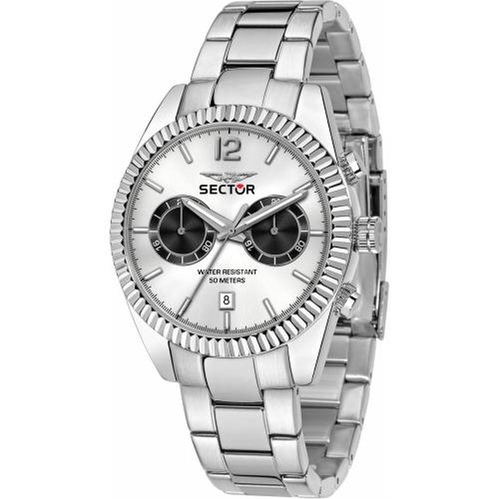 SECTOR GENTS MULT W/SILVER DIAL SS B 41MM - SECTOR