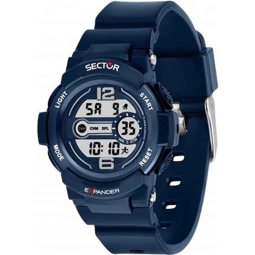 SECTOR EX-16 DIGITAL BLUE DIAL BLUE PU STRAP - SECTOR