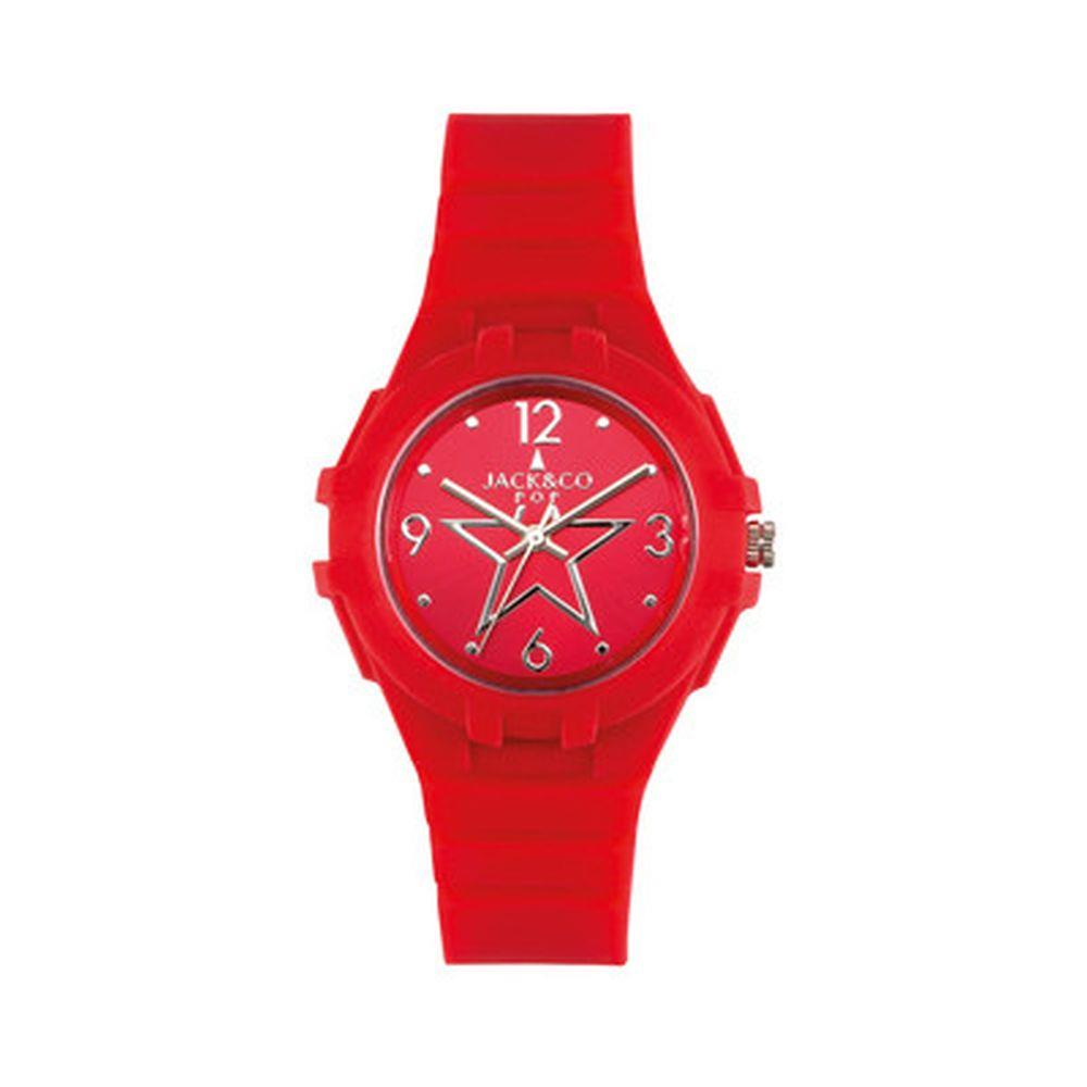 JACK & CO ROSSO CON STELLA SUL QUADRANTE 36MM - JACK & CO