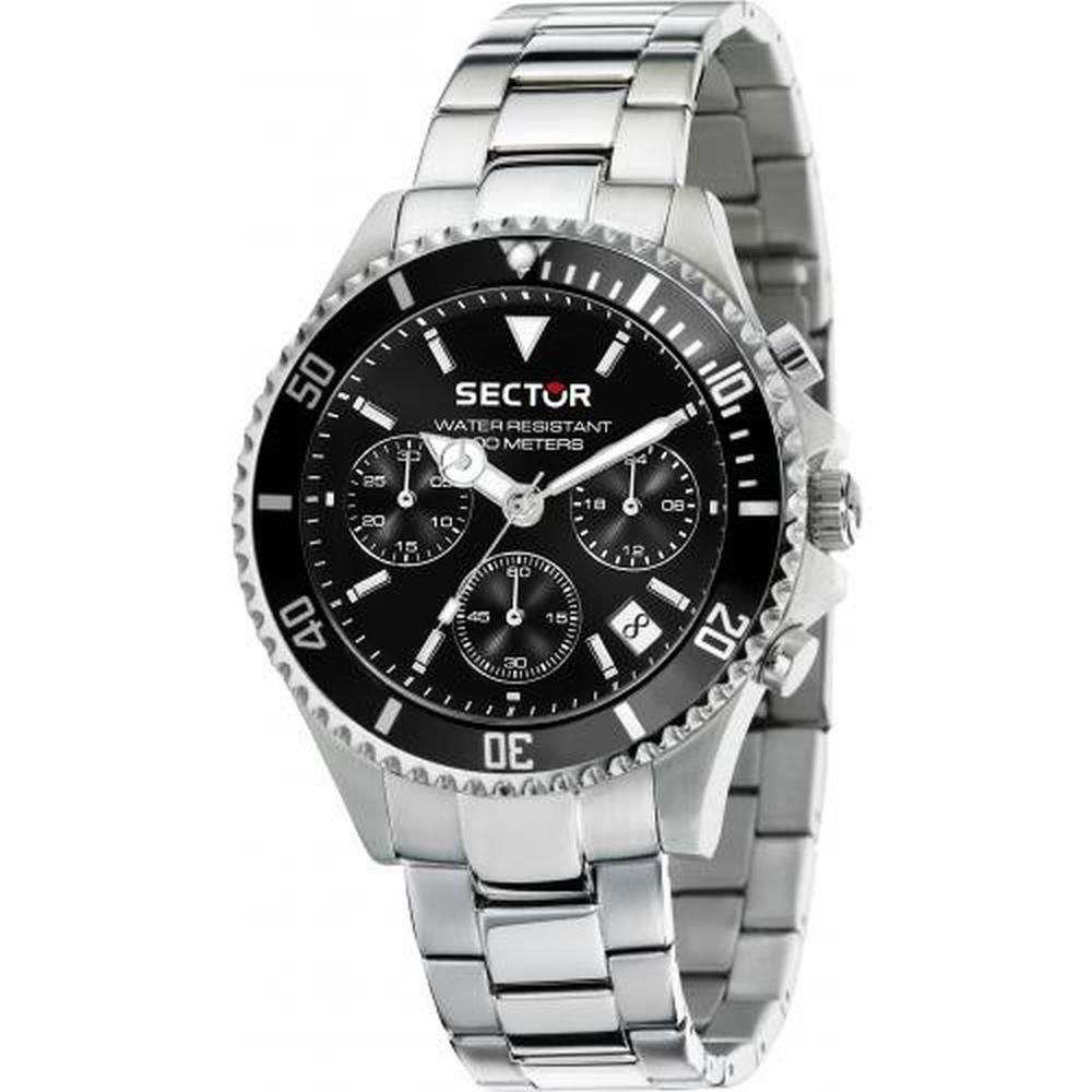SECTOR 230 CHR BLACK DIAL BR SS - SECTOR