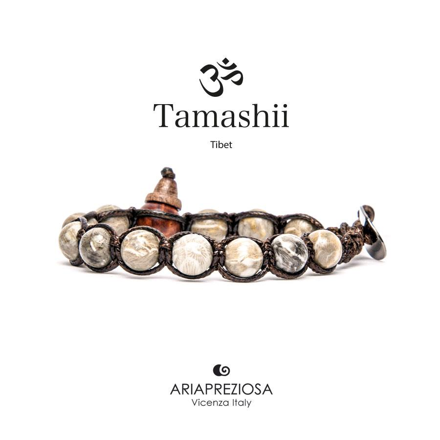 BRACCIALE TAMASHII CORALLO FOSSILE - TAMASHII