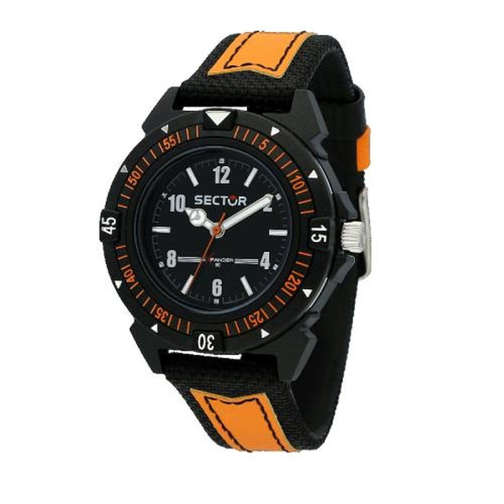 SECTOR EXPANDER 90 BLK DIAL ORANGE/BLACK - SECTOR