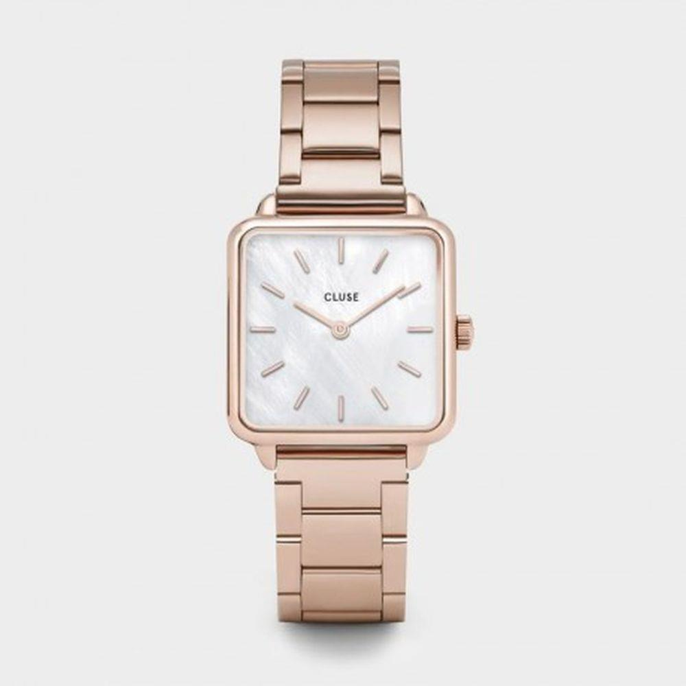 CLUSE LA TETRAGONE THREE LINK ROSE GOLD - CLUSE