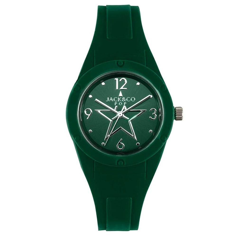 JACK & CO VERDE CON STELLA SUL QUADRANTE 34MM - JACK & CO