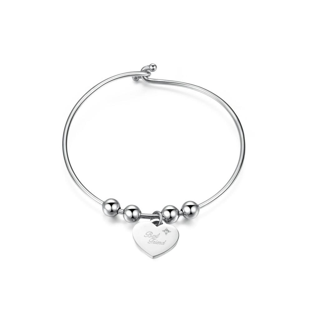 BRACCIALE RIGIDO CON CUORE BEST FRIENDS  - S