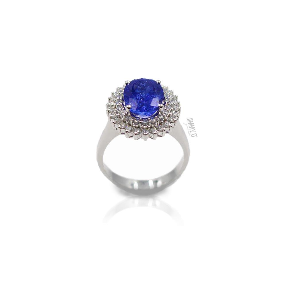 ANELLO CON DIAMANTI E TANZANITE - JIMMY O