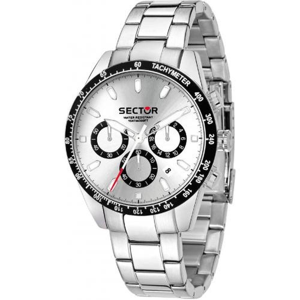 SECTOR 245 CHR WHITE DIAL SS BR - SECTOR