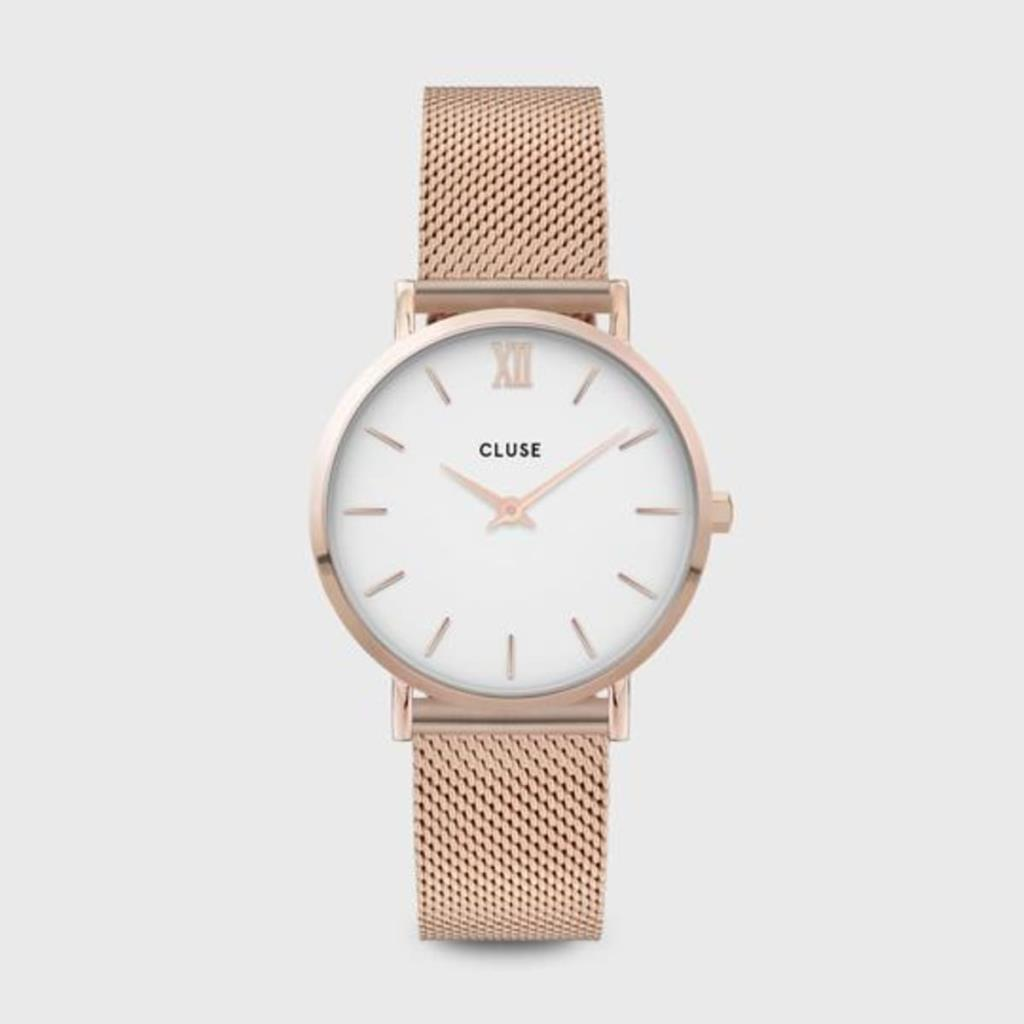 CLUSE MINUIT MESH ROSE GOLD WHITE/ROSE GOLD - CLUSE