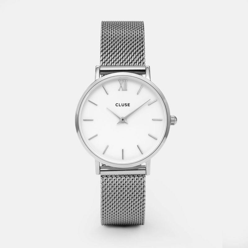 CLUSE MINUIT MESH SILVER/WHITE - CLUSE